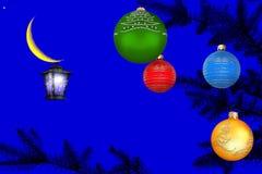 De magische nacht van het Kerstmisnieuwjaar Stock Afbeelding
