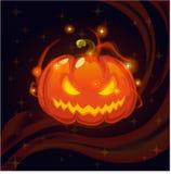 De magische pompoen van Halloween Stock Afbeeldingen