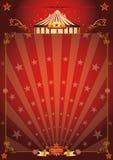 De magische rode affiche van het stercircus royalty-vrije illustratie
