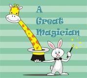 De Magische show van konijn vector illustratie