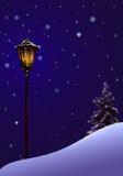 De magische straatlantaarn van Kerstmis Royalty-vrije Stock Foto's