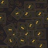 De magische vierkanten herhalen patroon Stock Foto's
