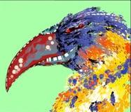 De magische vogel van Phoenix - grunge digitaal art. Stock Afbeelding