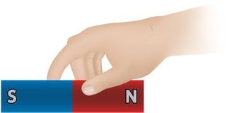 De magneet van de staaf stock illustratie