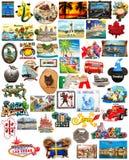De magneten van de de reiskoelkast van de wereld Stock Afbeeldingen