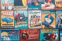 De magneten zijn herinneringen van stad Boedapest royalty-vrije stock fotografie