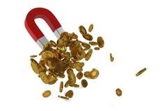 De magneten zuigen goud Stock Fotografie