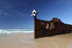 De Maheno-schipbreuk, Fraser Island, Queensland, Australië Royalty-vrije Stock Foto's