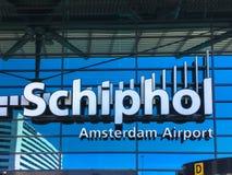 15 de maio de 2018 Aeroporto de Schiphol, Amsterdão, os Países Baixos Imagens de Stock