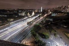 23 de Maio Avenue en la noche Fotos de archivo libres de regalías