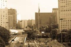 23 DE Maio Avenue, Sao Paulo, Brazili? royalty-vrije stock afbeelding