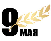 9 de maio com ramo do louro Foto de Stock