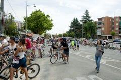 28 DE MAIO DE 2017, ALCOBENDAS, ESPANHA: parada tradicional da bicicleta imagem de stock royalty free