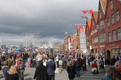 17 de maio de 2016: Dia nacional em Noruega Imagem de Stock Royalty Free