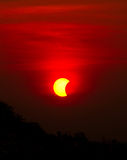 9 de maio de 2016 eclipse Fotos de Stock Royalty Free