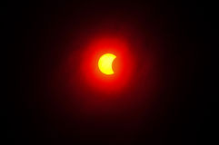 9 de maio de 2016 eclipse Imagem de Stock Royalty Free