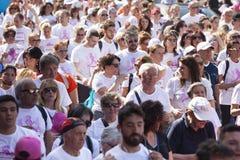 17 de maio de 2015 Raça para a cura, Roma Italy Raça contra o câncer da mama Foto de Stock
