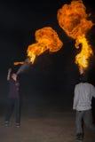 3 de maio de 2014 Ulan-Ude, Rússia: uma mostra do fogo na cidade de Ulan-U Fotografia de Stock