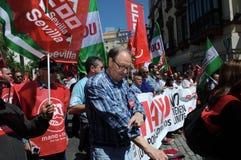 1º de maio demonstração 42 Fotografia de Stock