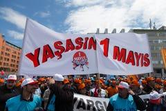 1º de maio em Istambul Fotos de Stock