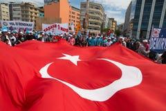 1º de maio em Istambul Fotos de Stock Royalty Free