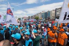 1º de maio em Istambul Imagens de Stock Royalty Free