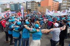 1º de maio em Istambul Imagens de Stock
