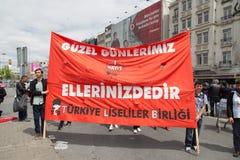 1º de maio em Istambul Fotografia de Stock Royalty Free