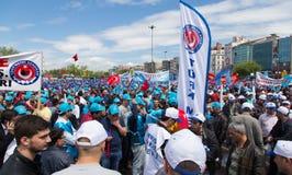1º de maio em Istambul Imagem de Stock
