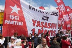1º de maio em Istambul Foto de Stock