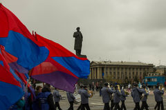 1º de maio em Krasnoyarsk Imagem de Stock Royalty Free