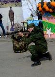 9 de maio em Tomsk Imagem de Stock