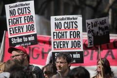 1º de maio protestos em Londres Fotografia de Stock Royalty Free