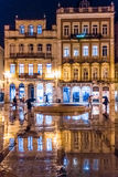 8 de Maio square at night. Coimbra. Portugal Royalty Free Stock Photos