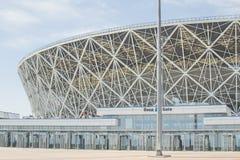 23 de maio de 2018 Volgograd, Rússia Arena nova de Volgograd do estádio de futebol imagem de stock