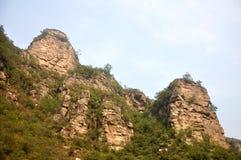De majestätiska bergen Arkivfoton
