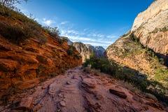 De majesteit van Zion National Park royalty-vrije stock afbeelding