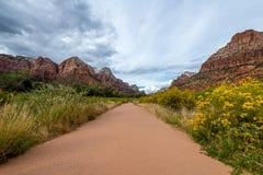 De majesteit van Zion National Park stock foto