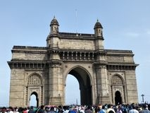 De majestueuze Gateway van India, Mumbai royalty-vrije stock foto