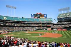 De Major League Baseball National Anthem juego pre imagenes de archivo
