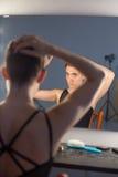 De make-up van de ballerina royalty-vrije stock afbeelding