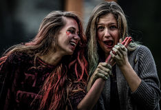 De make-up van Halloween Stock Foto