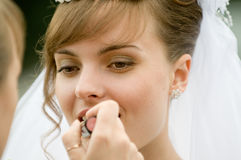 De make-up van het huwelijk Stock Afbeeldingen