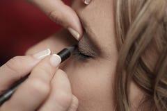 De make-up van het huwelijk stock fotografie