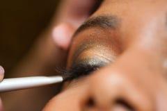 De Make-up van het oog - Indisch Model stock foto's