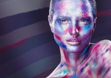De Make-up van de manier stock foto's