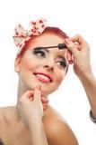 De make-up van Pinup Stock Fotografie