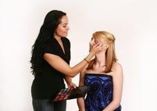 De Make-up van Prom stock afbeeldingen