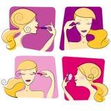 De make-upillustratie van de vrouw Royalty-vrije Stock Foto