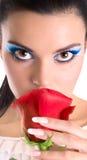 De make-upmeisje van de schoonheid Royalty-vrije Stock Afbeeldingen
